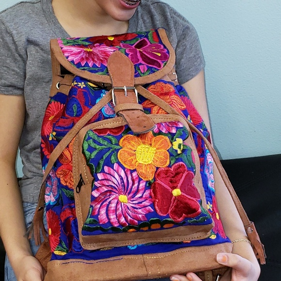 Mexican Typical Fabric Backpack